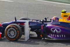 Формула-1 объениняется в команду дни испытания на цепи Catalunya Стоковое Изображение