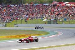 Формула 1 Grand Prix Каталонии Стоковые Изображения RF