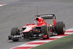 Формула 1 Marussia MR02 - максимальное Chilton Стоковые Изображения