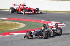 Формула 1 Sauber C32 Esteban Gutierrez Стоковые Изображения RF
