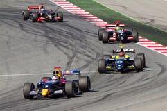 Формула Renault участвует в гонке Стоковое фото RF