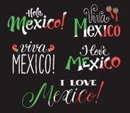 Формулировки Viva Мексики бесплатная иллюстрация
