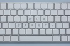 Формулирует безопасность сети на клавиатуре компьютера с другими пользует ключом уничтоженный Стоковое Изображение