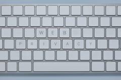 Формулирует уединение сети на клавиатуре компьютера с другими пользует ключом уничтоженный Стоковое фото RF