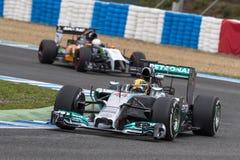 Формула 2014 Левиса Гамильтона 1 Стоковые Фотографии RF