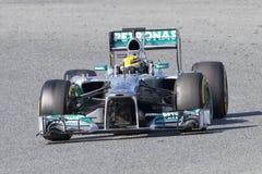Формула 1 Левис Гамильтон Стоковое Изображение RF