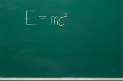 Формула на школьном правлении стоковая фотография rf