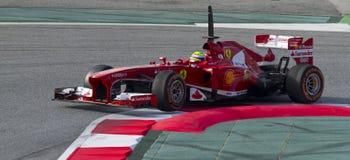 Формула-1 объениняется в команду дни испытания на цепи Catalunya Стоковые Изображения RF
