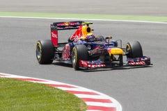 Формула 1 - отметьте Webber Стоковые Фото
