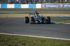 Формула 1, 2015: Представление нового автомобиля Мерседес Стоковые Изображения