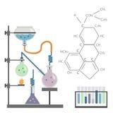 Формула пробирки химической лаборатории иллюстрация штока