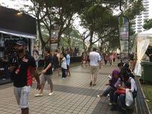 Формула 2015 Сингапура Grand Prix 1, залив Сингапур Марины Стоковое фото RF