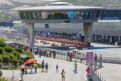 3 5 формула renault 5 серий 2014 - старт гонки Стоковые Изображения RF