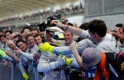 Формула 1 Sepang победителя, Малайзия 2014 Стоковое фото RF