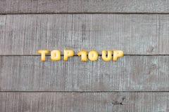 Формулировать 10 лучших Стоковое фото RF