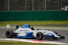 0 2 формул renault 0 испытаний автомобиля на Монце Стоковое Изображение