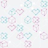 формы абстрактной геометрической картины безшовные Стоковое Фото