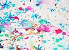 Формы акварели waxy и сверкная света, абстрактная предпосылка Стоковые Изображения