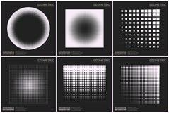 Формы всеобщего полутонового изображения геометрические для дизайна Стоковое фото RF