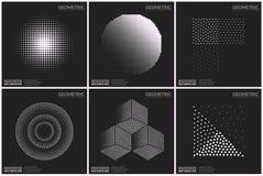 Формы всеобщего полутонового изображения геометрические для дизайна Стоковые Изображения RF