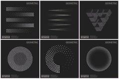 Формы всеобщего полутонового изображения геометрические для дизайна Стоковые Фото
