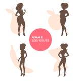 Формы женского тела Стоковые Изображения RF