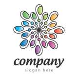 Цветастый абстрактный логос Стоковые Фото