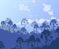 Формы иллюстратора вектора травы и цветков Стоковое фото RF