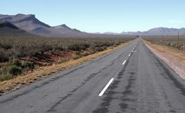 Формы и дорога горы Стоковые Изображения RF