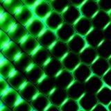 формы квадрата 3d под зеленым светом Красивая предпосылка науки абстрактная картина иллюстрации Современный элемент дизайна текст иллюстрация штока
