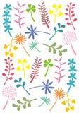формы листьев ретро Стоковая Фотография