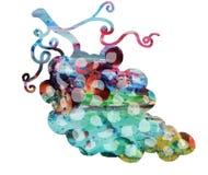 Формы радуги шаловливые на белой предпосылке, символе вина Стоковое Фото