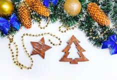 Формы рождества деревянные Стоковые Фотографии RF