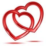 Формы сердец конспекта 2 сияющие иллюстрация штока