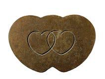 Формы сердца выгравированные на ржавом металле Стоковая Фотография RF