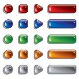 формы стекла кнопки Стоковое Изображение