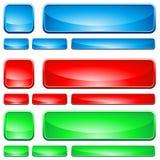 формы стекла кнопки Стоковое Изображение RF