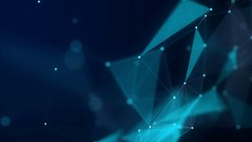 Формы, точки и линии connectied с блеском на запачканной предпосылке сердитой Сигналя состав 4K иллюстрация штока
