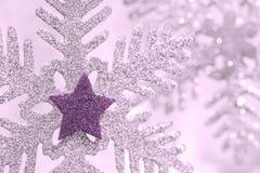 Формы украшения снежинки Стоковое фото RF