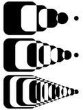 Формы Blended пересекая Комплект интенсивности 3 Абстрактное monoch бесплатная иллюстрация