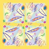 формы scribbles Стоковые Изображения