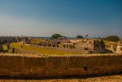 Форталеза de San Carlos de Ла Cabana, форт входа St Charles havana Старая крепость в Кубе Стоковые Фото