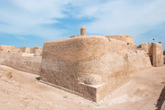Форт Бахрейна Al Qal'At, остров Бахрейна Стоковое Фото