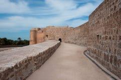 Форт Бахрейна Al Qal'At, остров Бахрейна Стоковая Фотография