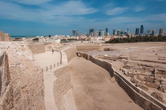 Форт Бахрейна Al Qal'At, остров Бахрейна Стоковые Фото