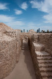 Форт Бахрейна Al Qal'At, остров Бахрейна Стоковое Изображение