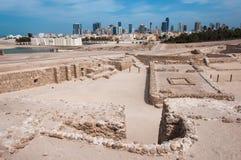 Форт Бахрейна Al Qal'At, остров Бахрейна Стоковая Фотография RF