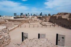 Форт Бахрейна Al Qal'At, остров Бахрейна Стоковые Фотографии RF