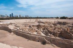 Форт Бахрейна Al Qal'At, остров Бахрейна Стоковые Изображения RF