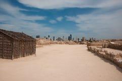 Форт Бахрейна Al Qal'At, остров Бахрейна Стоковое Изображение RF